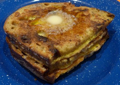 Ground Zero Gourmet Organic Artisan Cinnamon-Rasin-Maple-Walnut Sourdough Bread French Toast